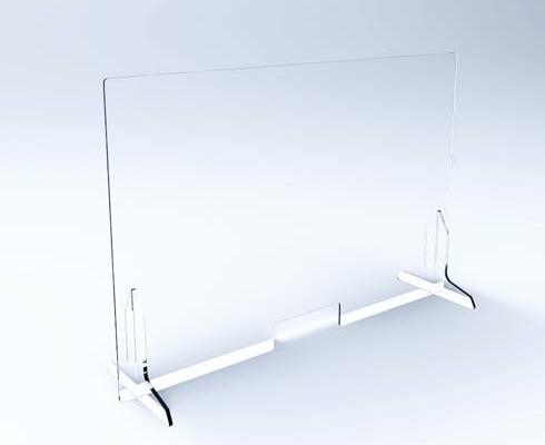 Pannello divisorio anti contagio in plexiglas