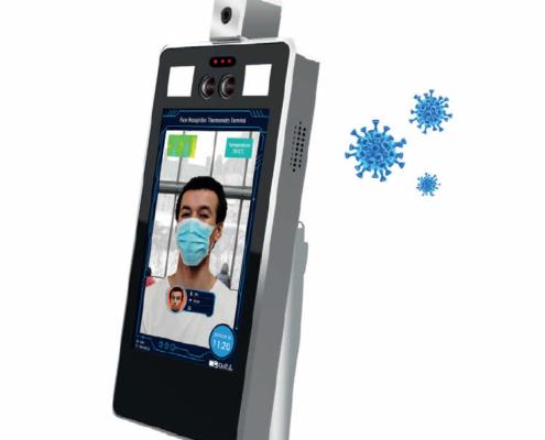Dispositivo riconoscimento facciale misurazione temperatura