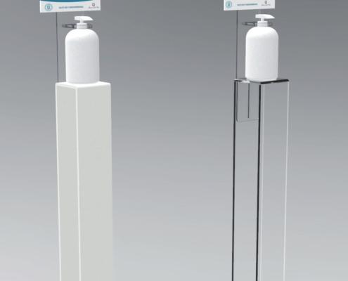 Colonnine in plexiglass porta dispenser